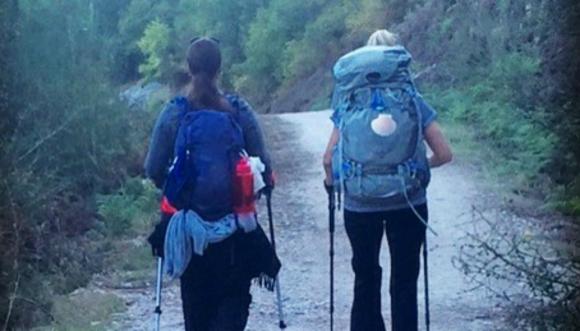 Ana junto a Michael, quién la acompañó en el camino en su segundo intento. Foto: Gentileza Ana Barranco