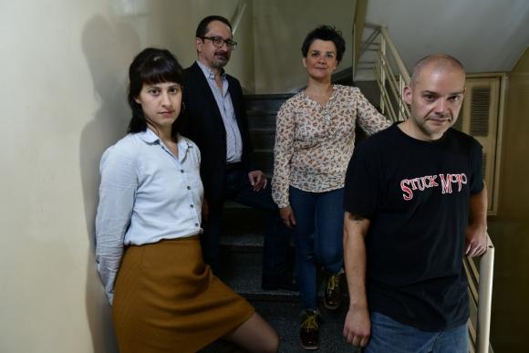 Regalini, Rossello, Feippe y Vila, cuatro de los autores del libro.