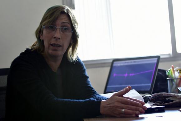 Sánchez es geoóloga y no sismóloga, pero el proyecto que dirige la convirtió  en la principal referente local en sismos. Foto: F. Ponzetto