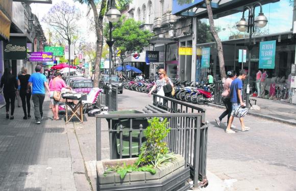 Varios comercios han sido robados mediante rotura de puertas y vidrieras. Foto: L. Pérez