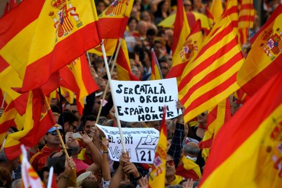 Según los organizadores, la marcha de ayer reunió a 1,1 millones de personas. Foto: AFP