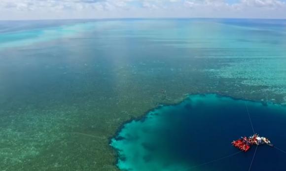Los científicos chinos continuarán estudiando la vida marina dentro del hoyo. Foto: YouTube