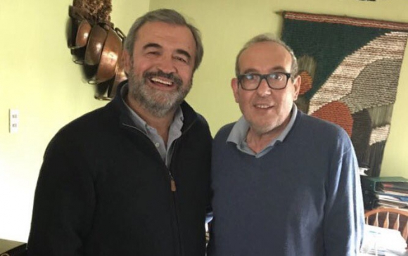 Sánchez quiere un Larrañaga fuerte para ganar las elecciones. Foto: @jorgewlarranaga