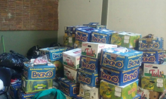 Los productos eran enviados de San Pablo a Cerro Largo. Foto: Dirección Nacional de Aduanas.