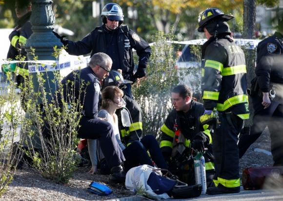 Además de los 8 muertos, el ataque de ayer en Nueva York dejó 12 heridos. Foto: Reuters
