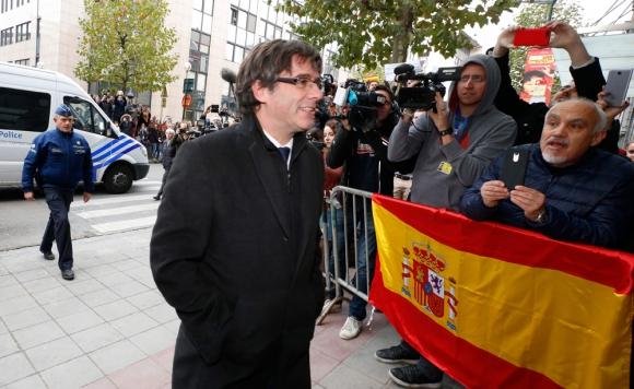Puigdemont: el cesado presidente catalán sigue en Bélgica. Foto: AFP