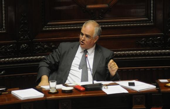 El diputado del Partido Nacional Gustavo Penadés en el Parlamento. Foto: F. Flores