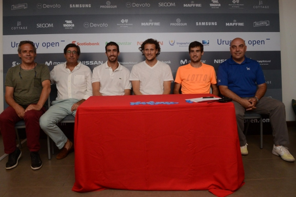 Sorteo del cuadro principal del Uruguay Open. Foto: Prensa Uruguay Open.