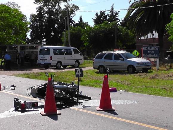 Uruguay tiene una de las peores tasa de muertes de motociclistas en accidentes. Foto: Archivo