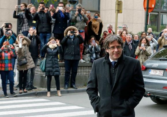 Puigdemont aspira a ser candidato el 21 de diciembre. Foto: AFP