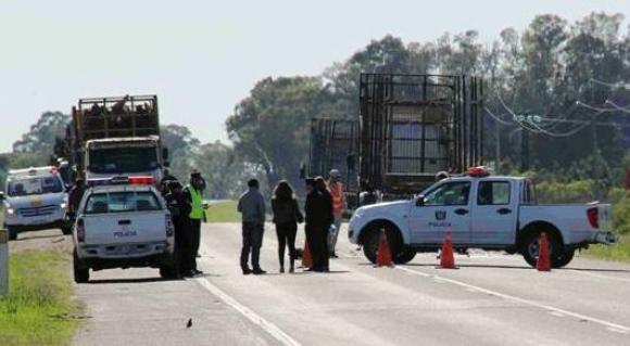 Murió al chocar contra un camión de UPM en Fray Bentos. Foto: Daniel Rojas