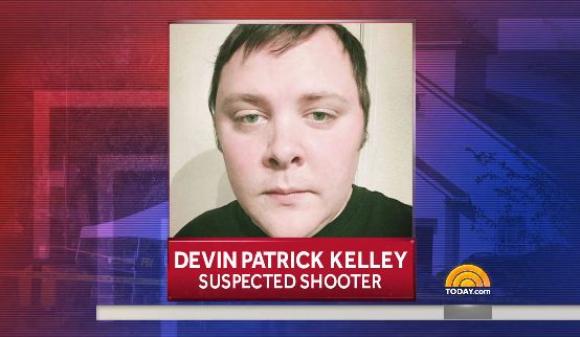 Devin Kelley, el atacante de Texas. Foto: captura NBCNews