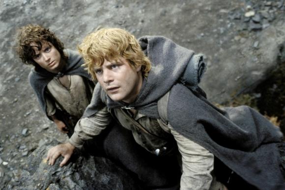 """Elijah Wood y Sean Astin en """"El Señor de los Anillos"""""""