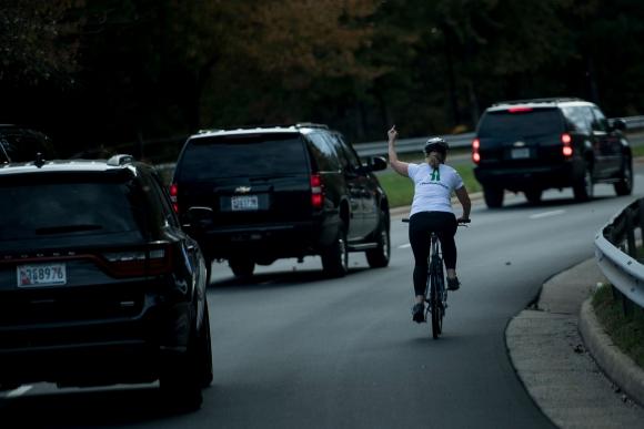 Juli Briskman. Foto: AFP