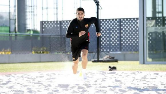 Empezó el trabajo de recuperación de Luis Suárez