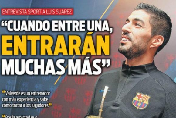 Luis Suárez en entrevista con diario Sport