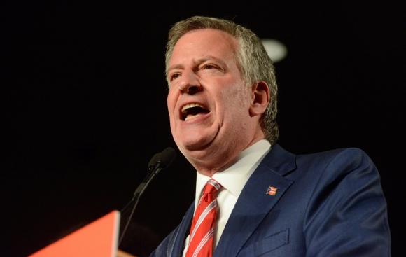 Bill de Blasio, alcalde de Nueva York. Foto: Reuters
