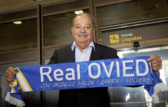 Slim. El magnate se fue del fútbol mexicano pero invierte en el Oviedo.