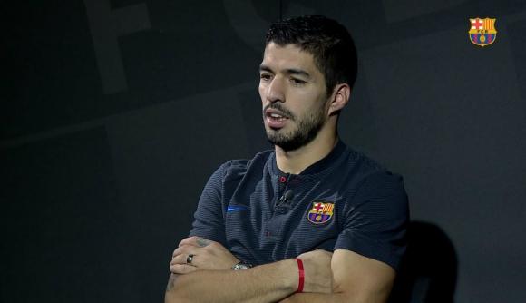 Luis Suárez entrevistado por la web del FC Barcelona