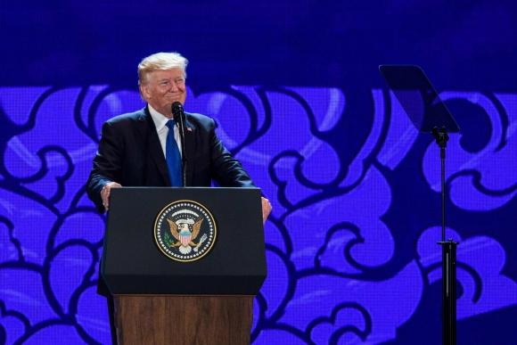 Donald Trump participó del Foro de Cooperación Económica Asia Pacífico. Foto: AFP