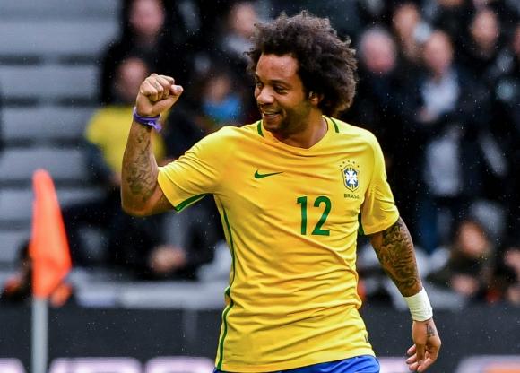 Marcelo anotó un golazo con un cañonazo de derecha