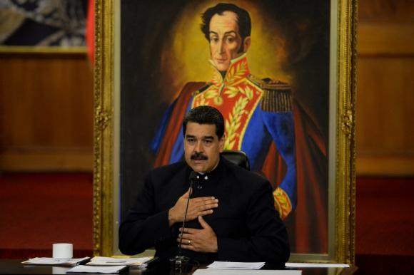 """Nicolás Maduro acusa a Estados Unidos de """"persecución financiera"""". Foto: AFP"""