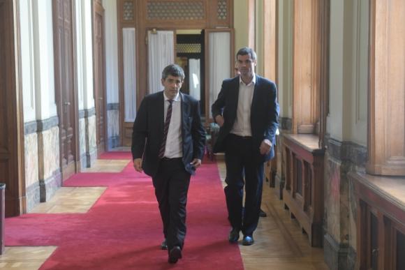 BROU: el presidente del banco se reunió ayer por la tarde con el Frente. Foto: F. Flores