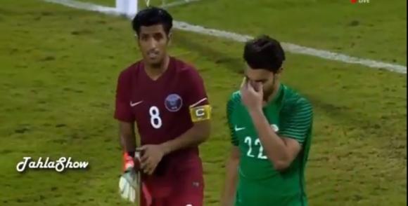 Jugador de campo de Qatar tapó penal y clasificó a su equipo