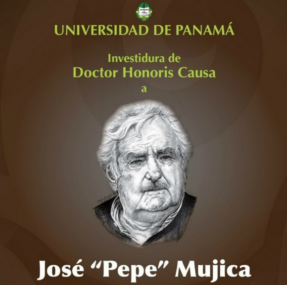 José Mujica será investido Doctor Honoris Causa por la Universidad de Panamá. Foto: UP.