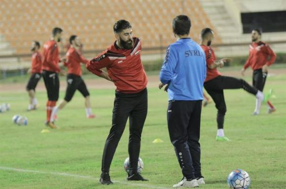 Futbolistas de la selección de Siria se entrenan para próximos compromisos. Foto: EFE