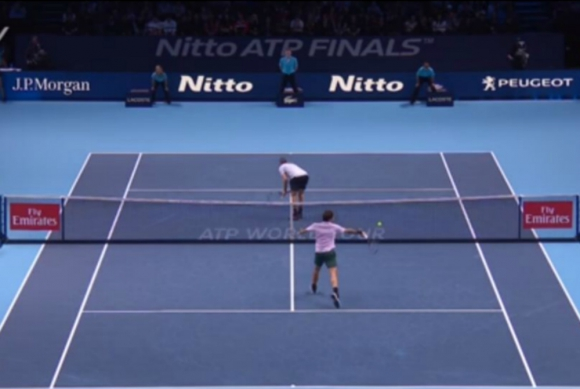 Federer erró un punto increíble ante Jack Sock