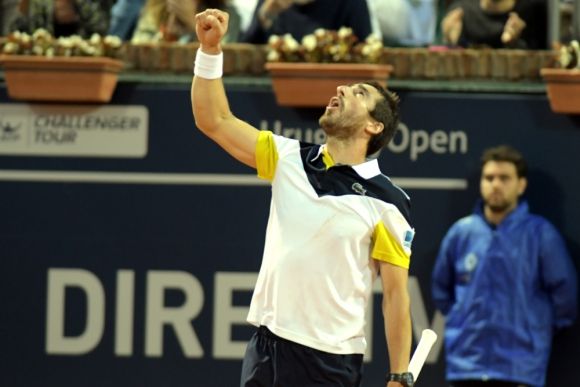 Pablo Cuevas celebra la victoria en el Uruguay Open. Foto: Francisco Flores