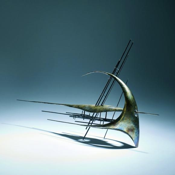 Walter Tournier muestra su trabajo como escultor.