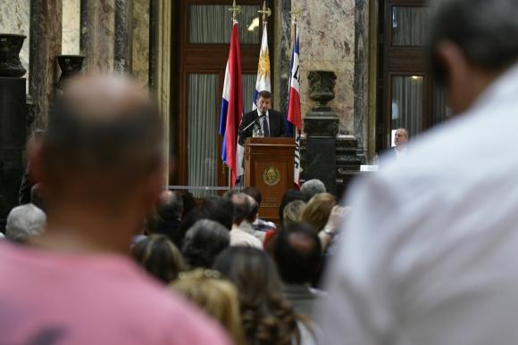 Ryder: el director de la OIT estuvo con empresarios y sindicalistas. Foto: F. Ponzetto