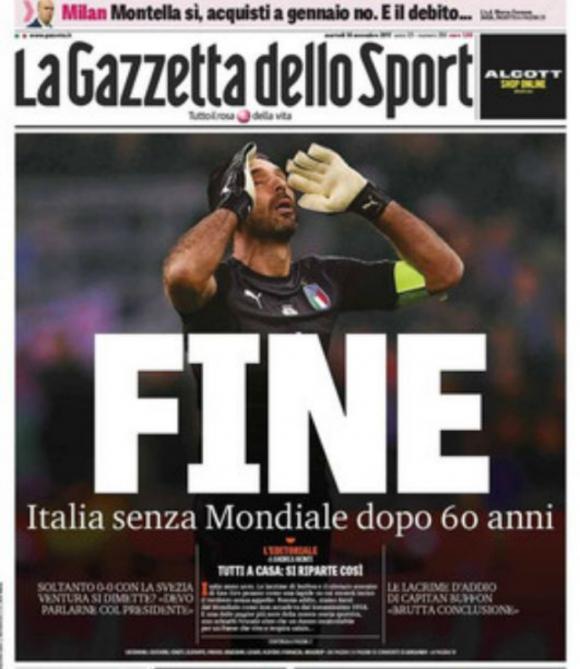 La portada de Gazzetta dello Sport