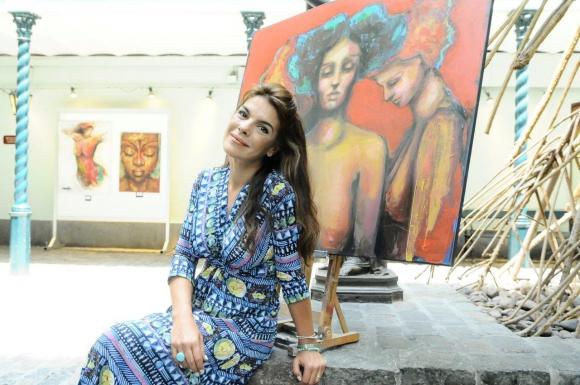 Victoria Rodríguez en su faceta de artista plástica