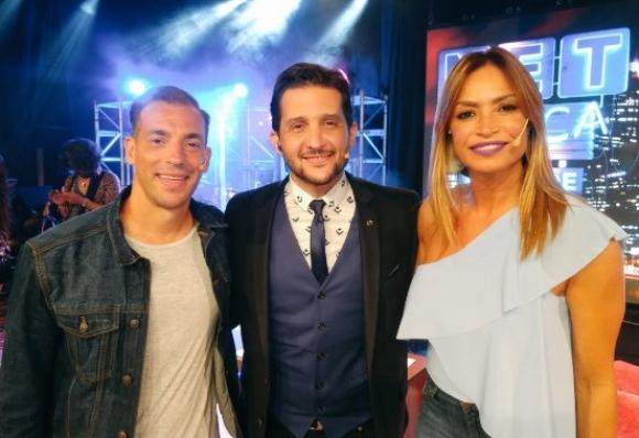 Maxi, Paoloski y Claudia en NET