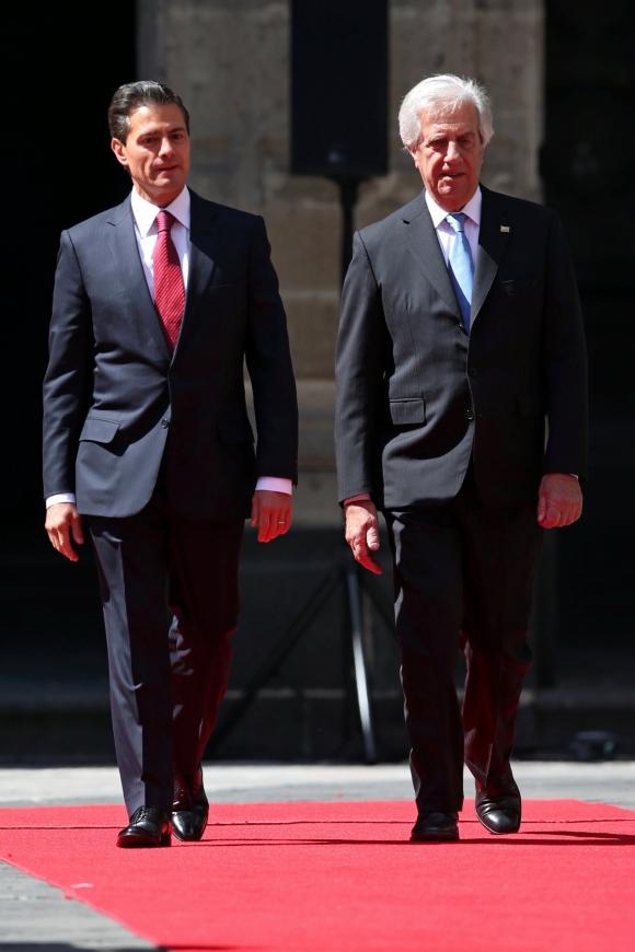 Tabaré Vázquez de visita en México. Foto: Reuters