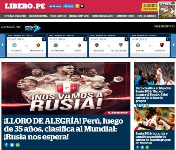 El Líbero, diario deportivo, celebró la clasificación