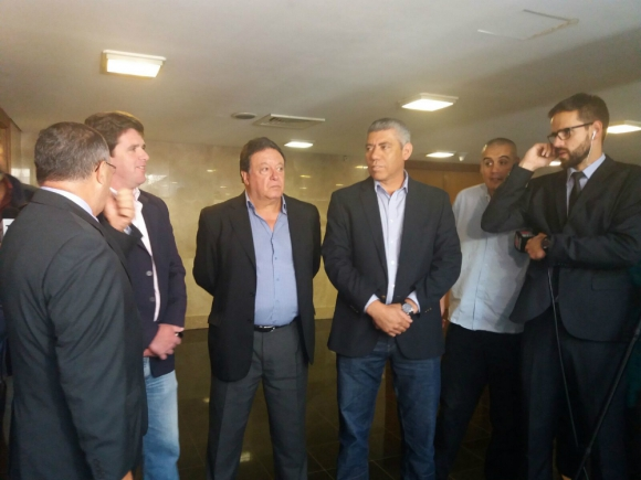 Pablo González, Saúl Aristimuño y Felipe Carballo en rueda de prensa. Foto: Valeria Gil.