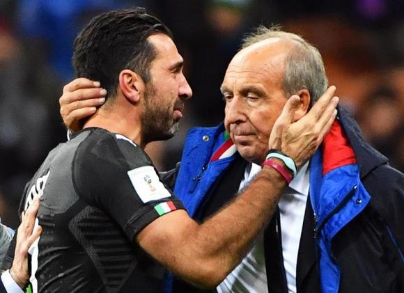Buffon y Gian Piero Ventura