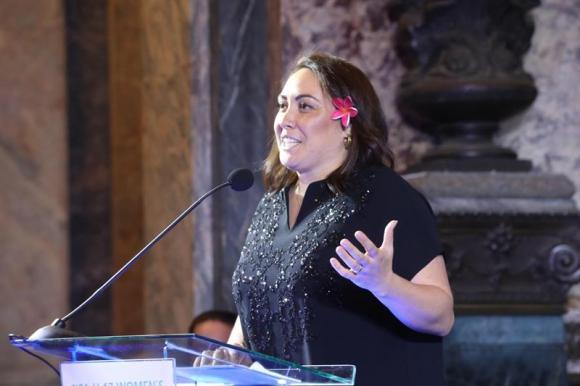 La presidenta del Fútbol Femenino de la FIFA, Sarai Bareman. Foto: EFE