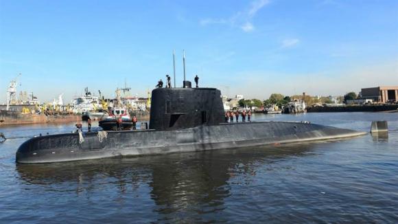 Submarino ARA San Juan. Foto: Armada argentina.