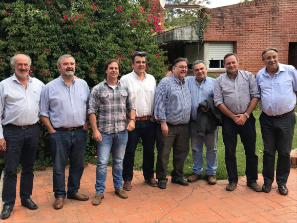 Encuentro: Rincón del Bonete fue sede de la reunión. Foto. @LuisLacallePou