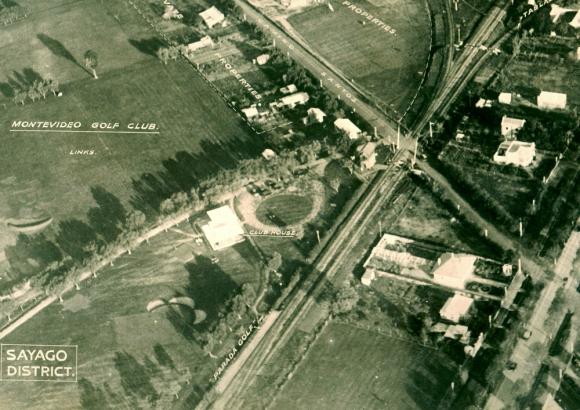 Más allá de las vías. En la foto aérea de los años '30 (abajo) el club era un rincón deportivo en pleno campo.