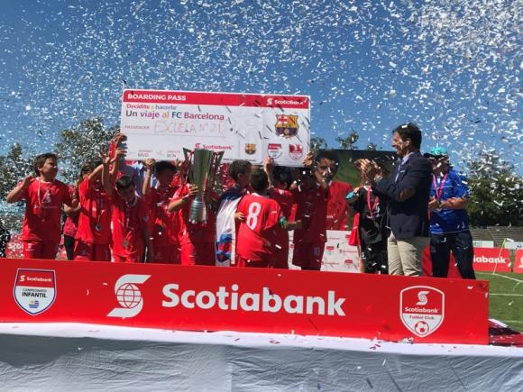 Campeonato de fútbol infantil Scotiabank.