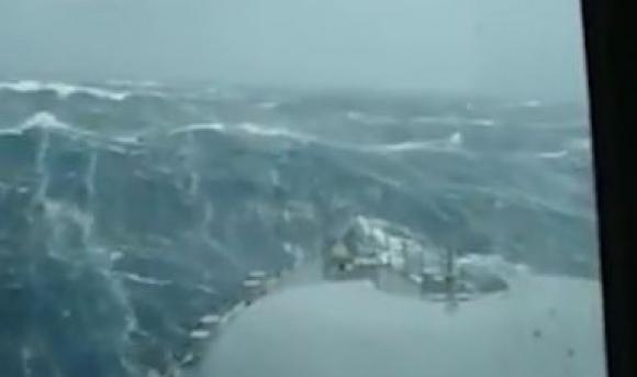 Así está el mar en la zona de búsqueda. Foto: captura Armada Argentina.