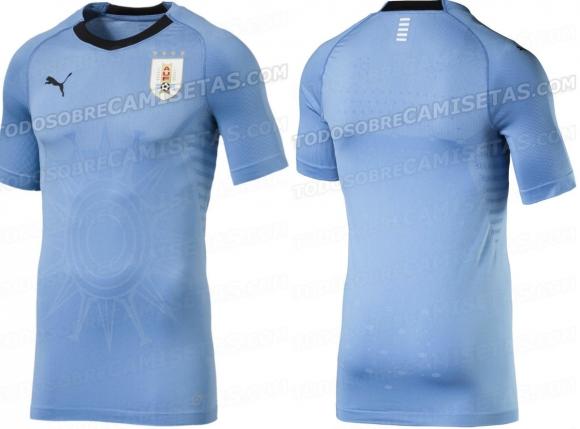 La nueva camiseta de Uruguay, versión jugadores. Foto: Todo Sobre Camisetas