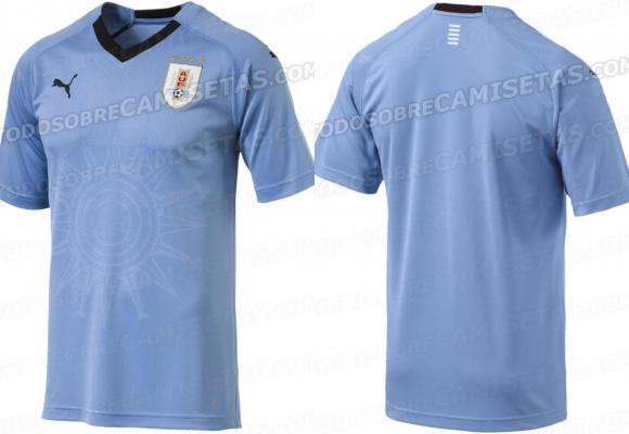 La nueva camiseta de Uruguay, versión aficionados. Foto: Todo Sobre Camisetas