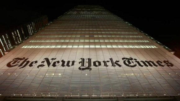 Edificio del New York Times. Foto: AFP